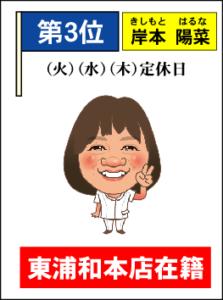 3位(岸本)
