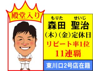 森田 11連覇